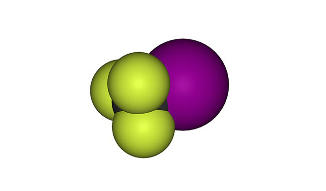 Молекула на трифлуоройодометана